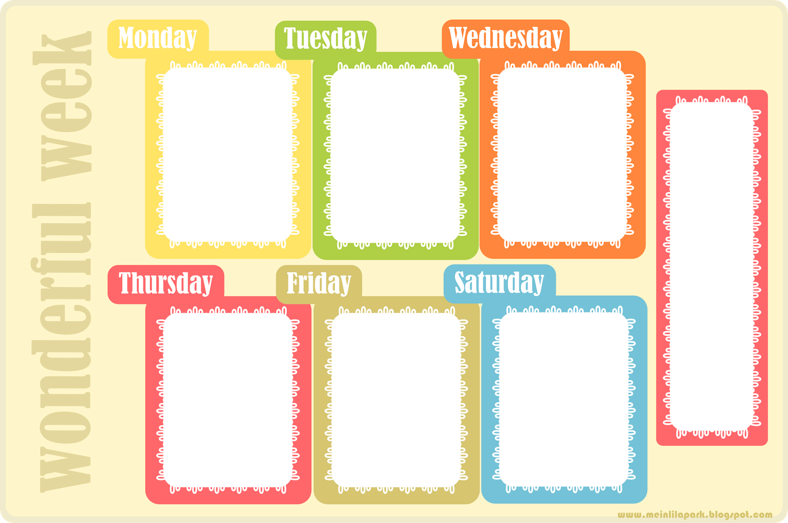 5 Images of Free Printable Homework Planner