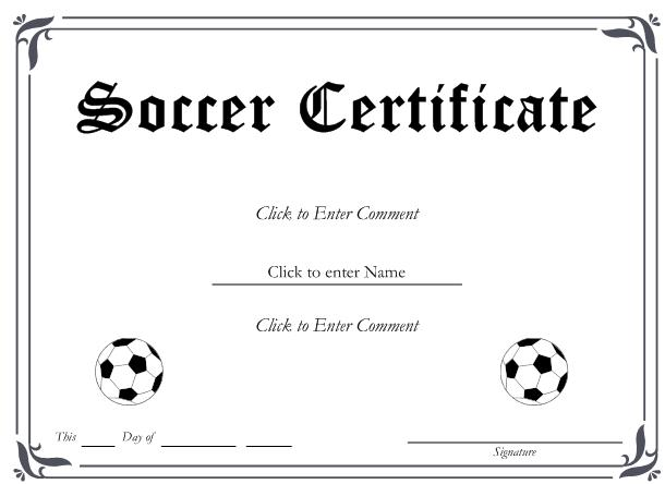 soccer certificate templates - 6 best images of free printable soccer award certificates