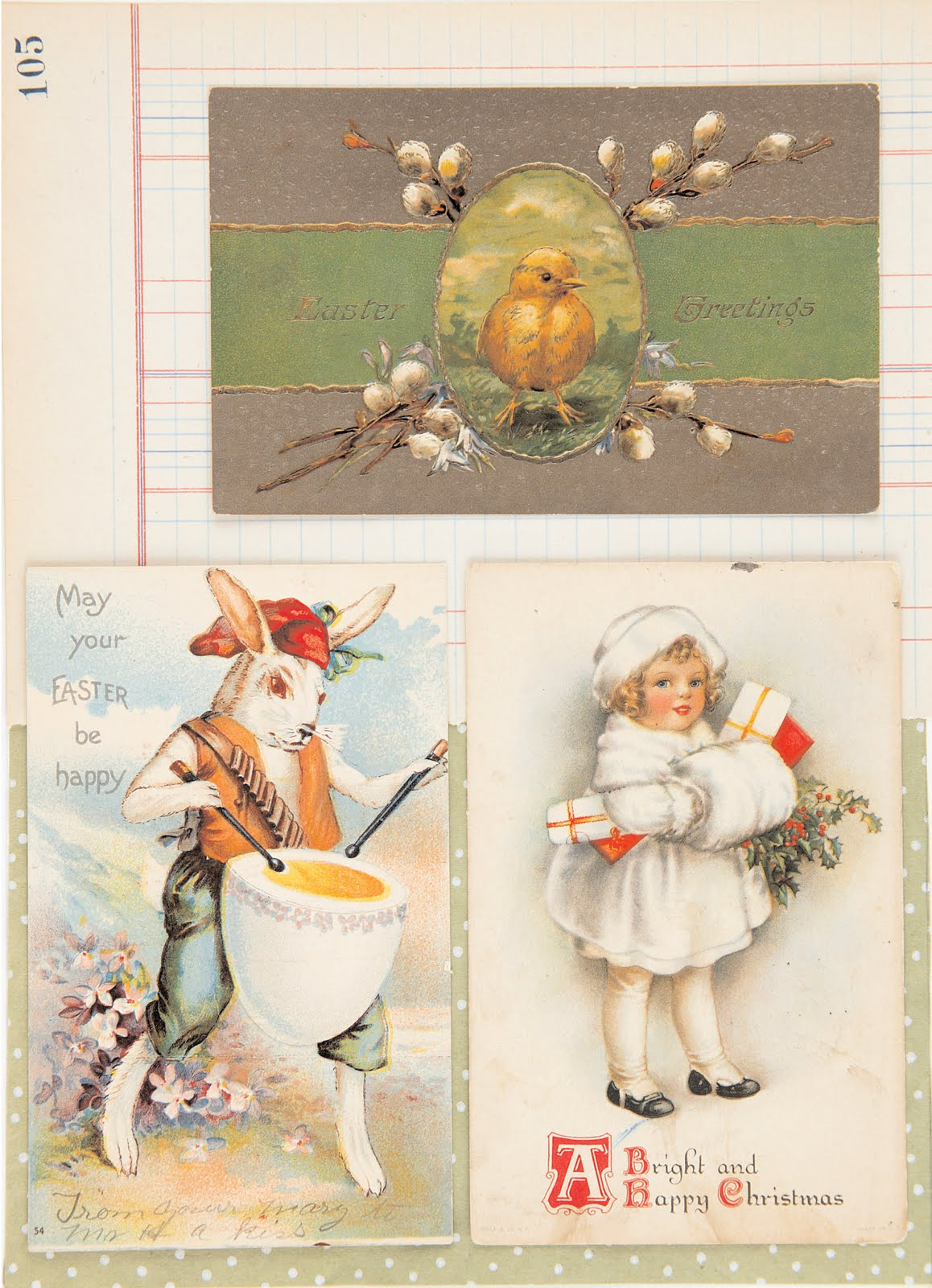 5 Images of Vintage Easter Tag Printable