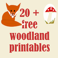 4 Images of Vintage Woodland Animal Printables