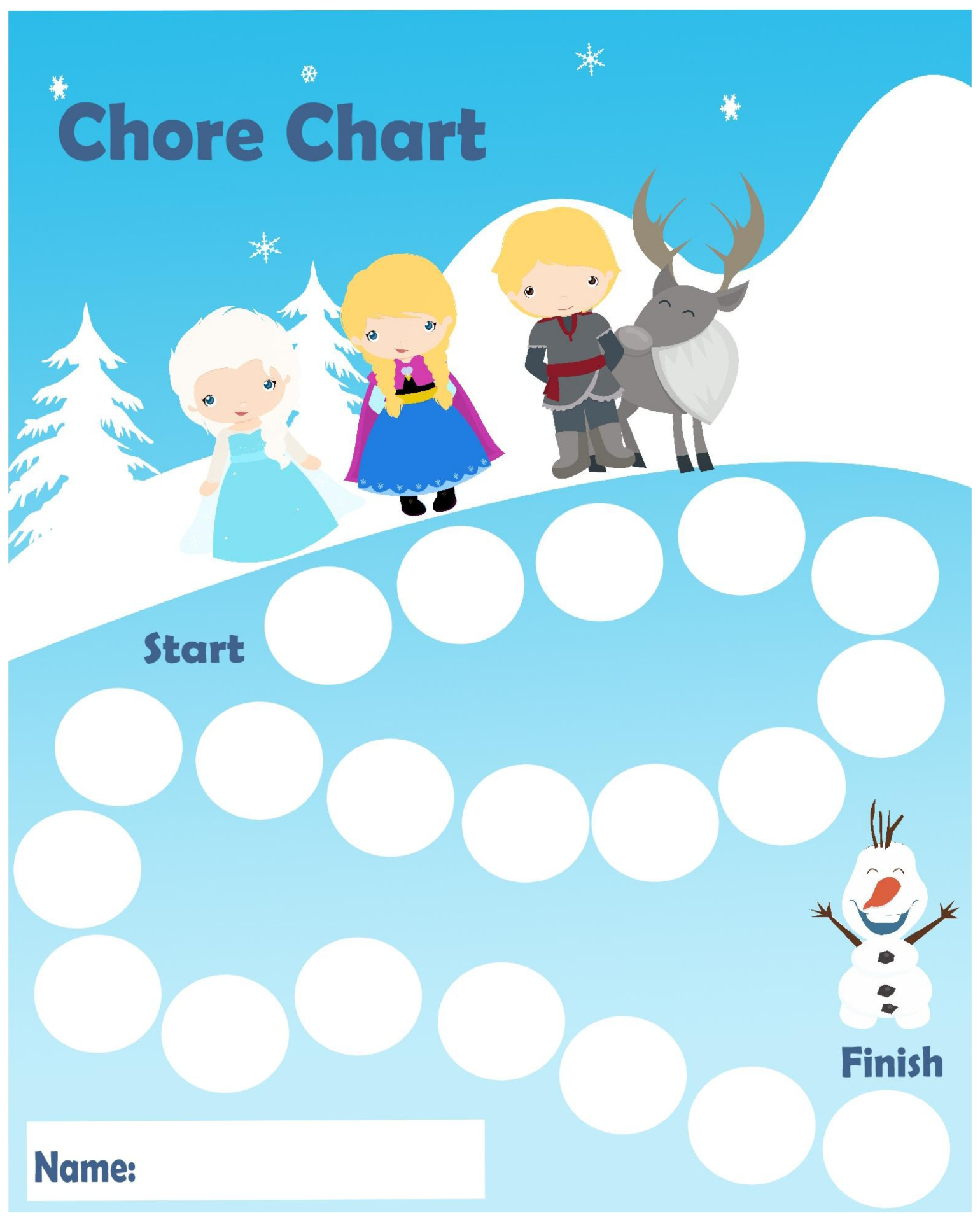 9 Images of Frozen Printable Sticker Charts