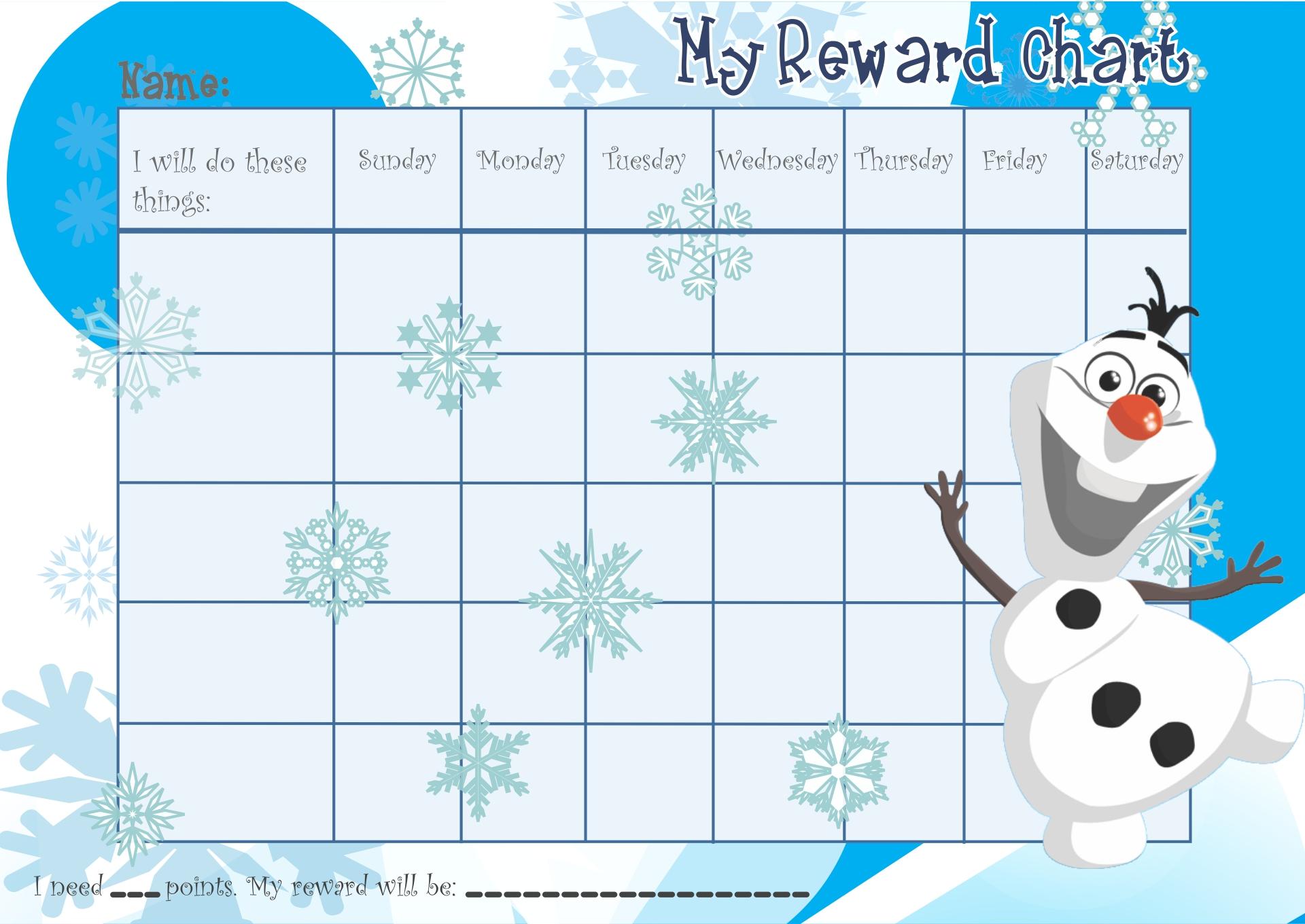 Frozen Printable Reward Charts