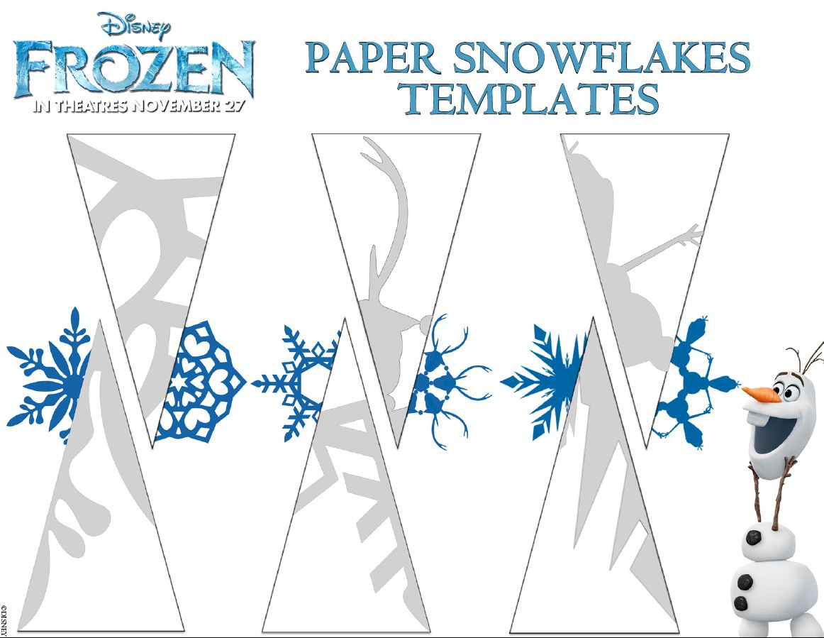 8 Images of Disney Frozen Printable Snowflake Templates