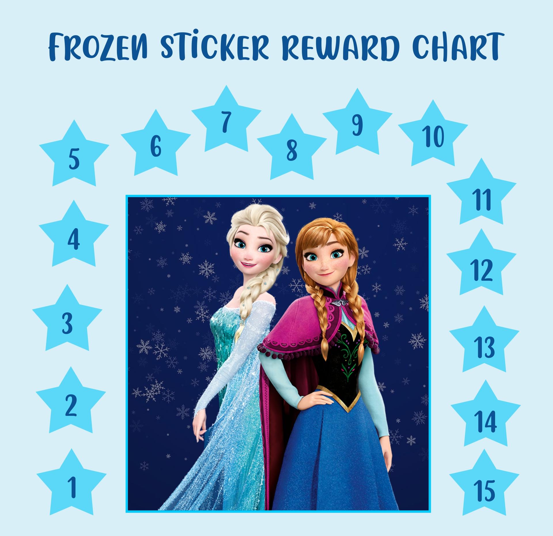 Frozen Printable Sticker Reward Chart