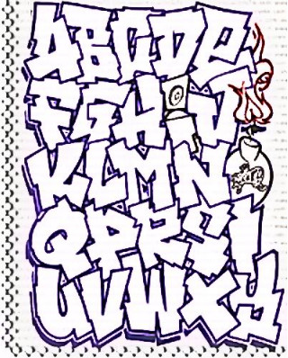 4 Images of Graffiti Letters AZ Printable