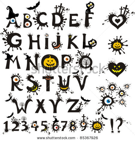 7 Images of Free Printable Scary Fonts