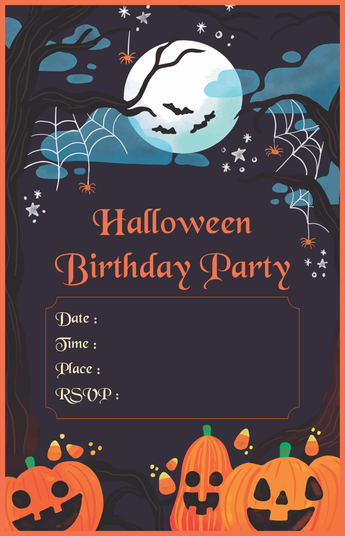 Halloween Birthday Party Invitations Templates Free