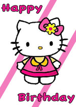 5 Images of Disney Hello Kitty Printable Birthday Cards That Are Free