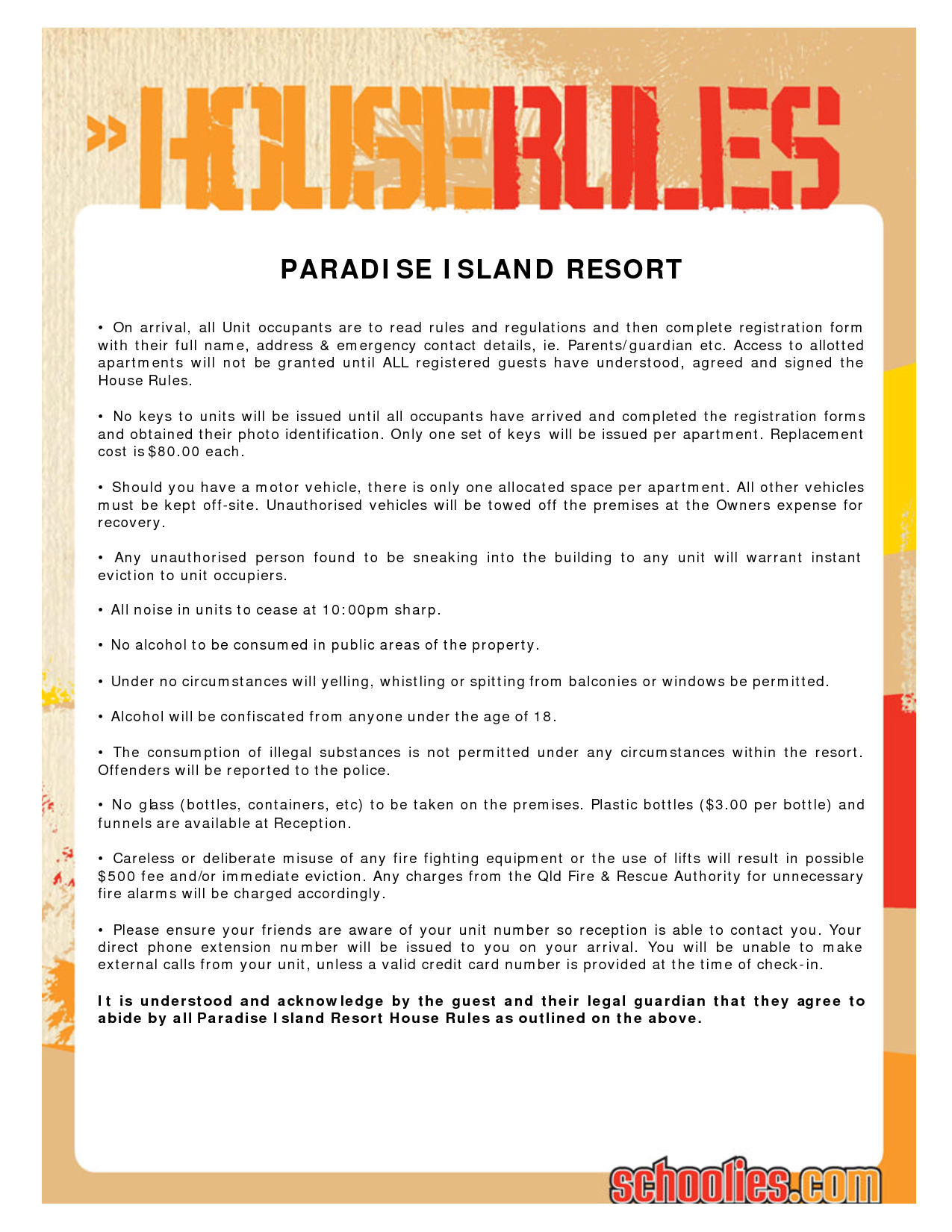 house rules chart template 7 best images of printable house rules for roommates