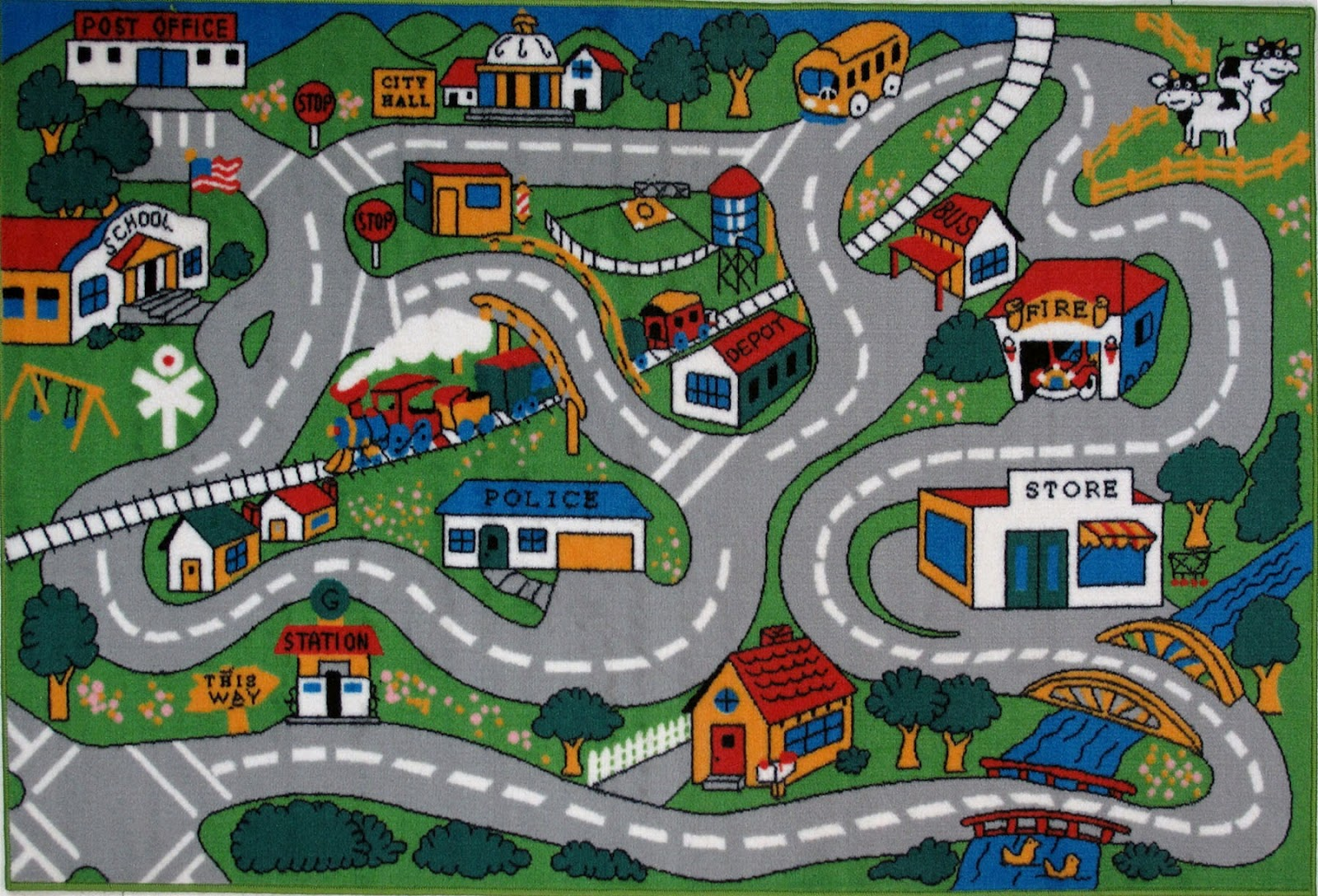 7 Best Images Of Printable Roads For Toy Cars Toy Car