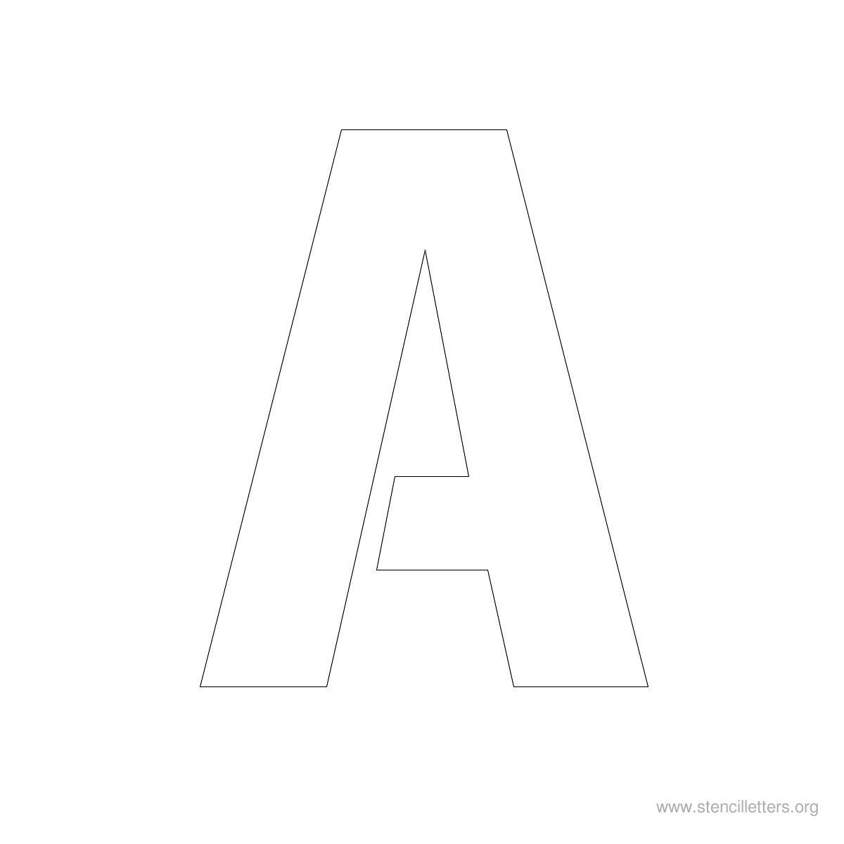 Large Letter Stencils Alphabet