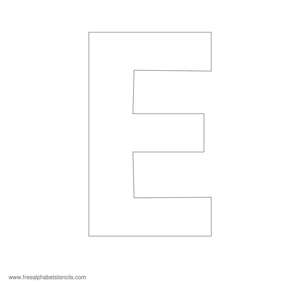 Large Letter Stencils E
