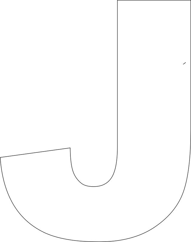 7 best images of printable block letter j printable for Large letter j for wall