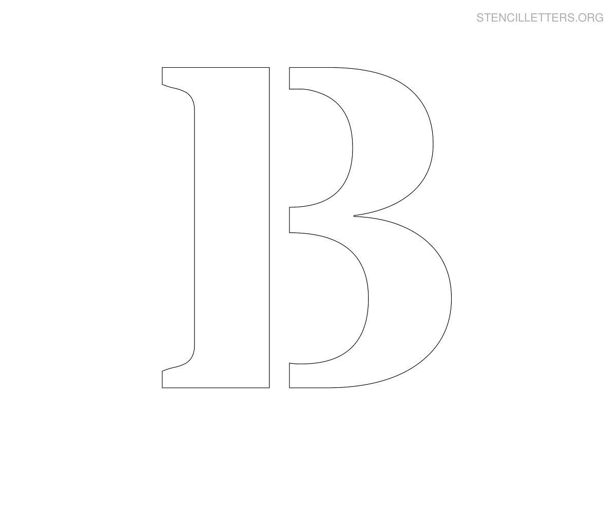 Large Printable Letter Stencils B