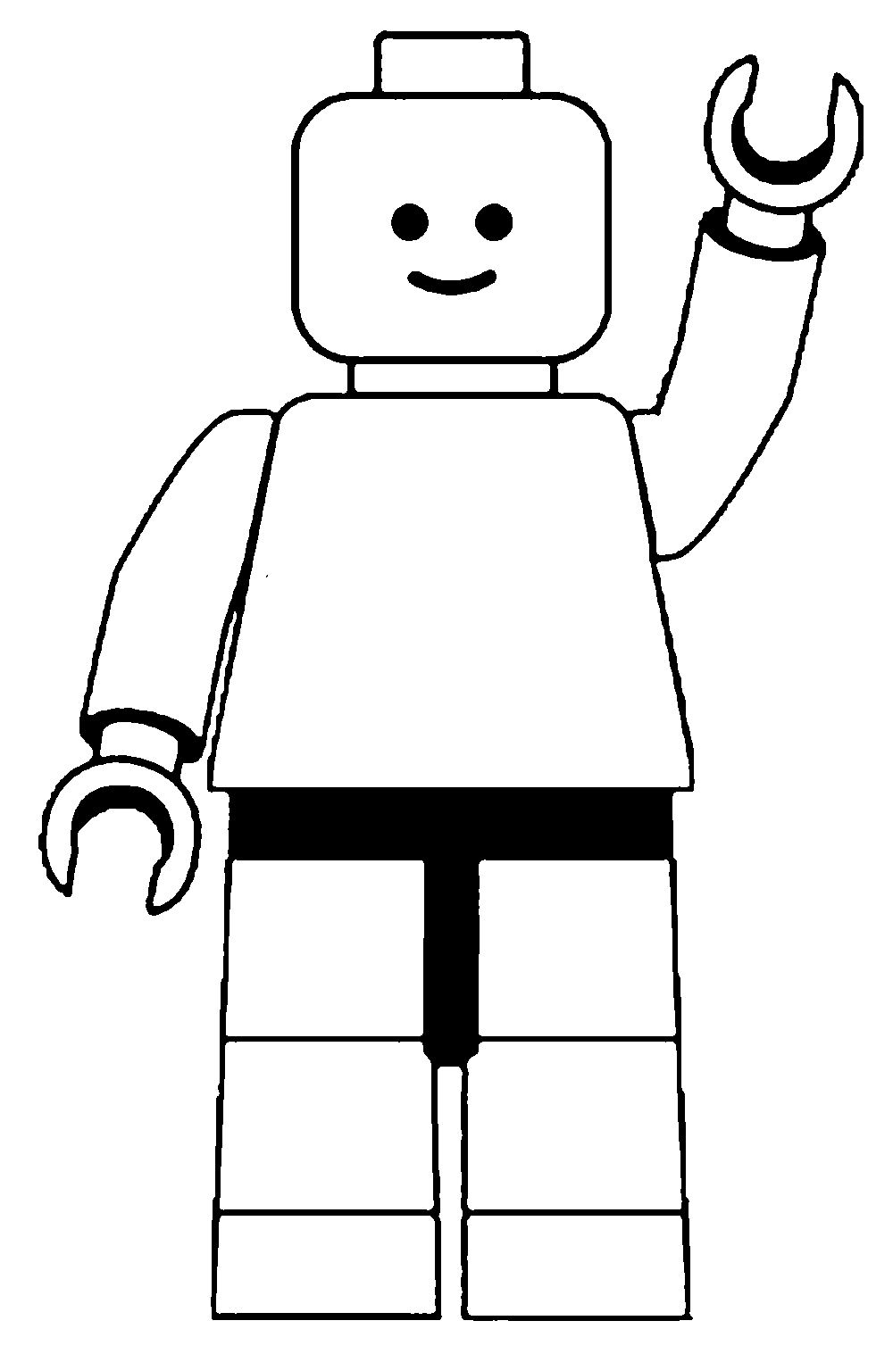 8 best images of lego stencil printable lego pumpkin for Lego guy coloring page