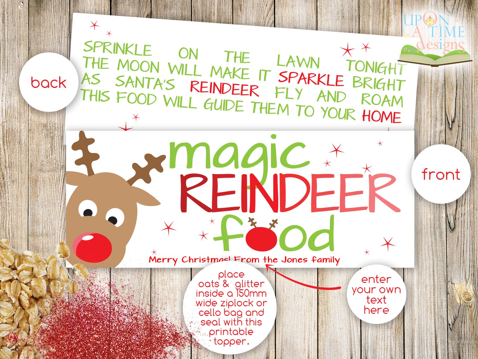 6 Images of Free Printable Magic Reindeer Food