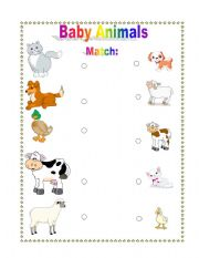 Mother and Baby Animal Match
