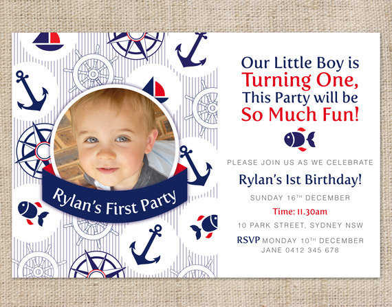 6 Images of Boy 1st Birthday Invitations Printable