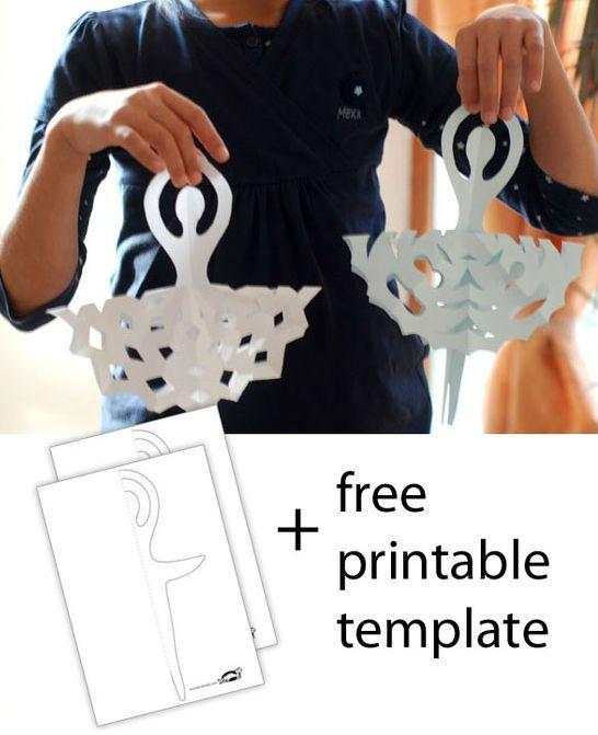 7 Images of Ballerina Snowflake Templates Printable
