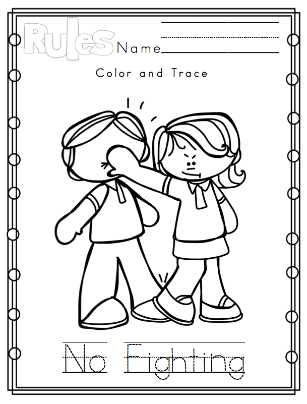 9 Images of Classroom Rules Printable Coloring Pages