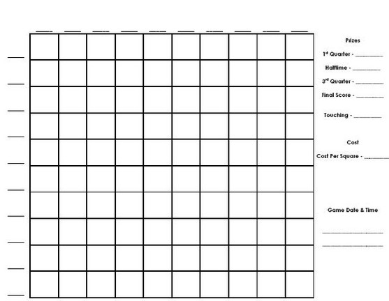 Best Images of Printable Football Pool Chart - Printable Football Pool ...