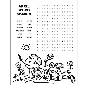 6 Images of April Word Search Free Printable