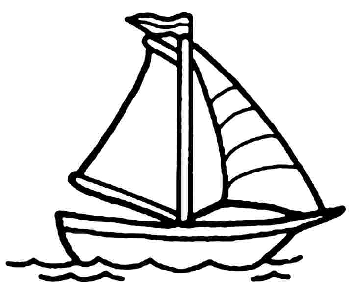 4 Images of Boat Coloring Pages Printable