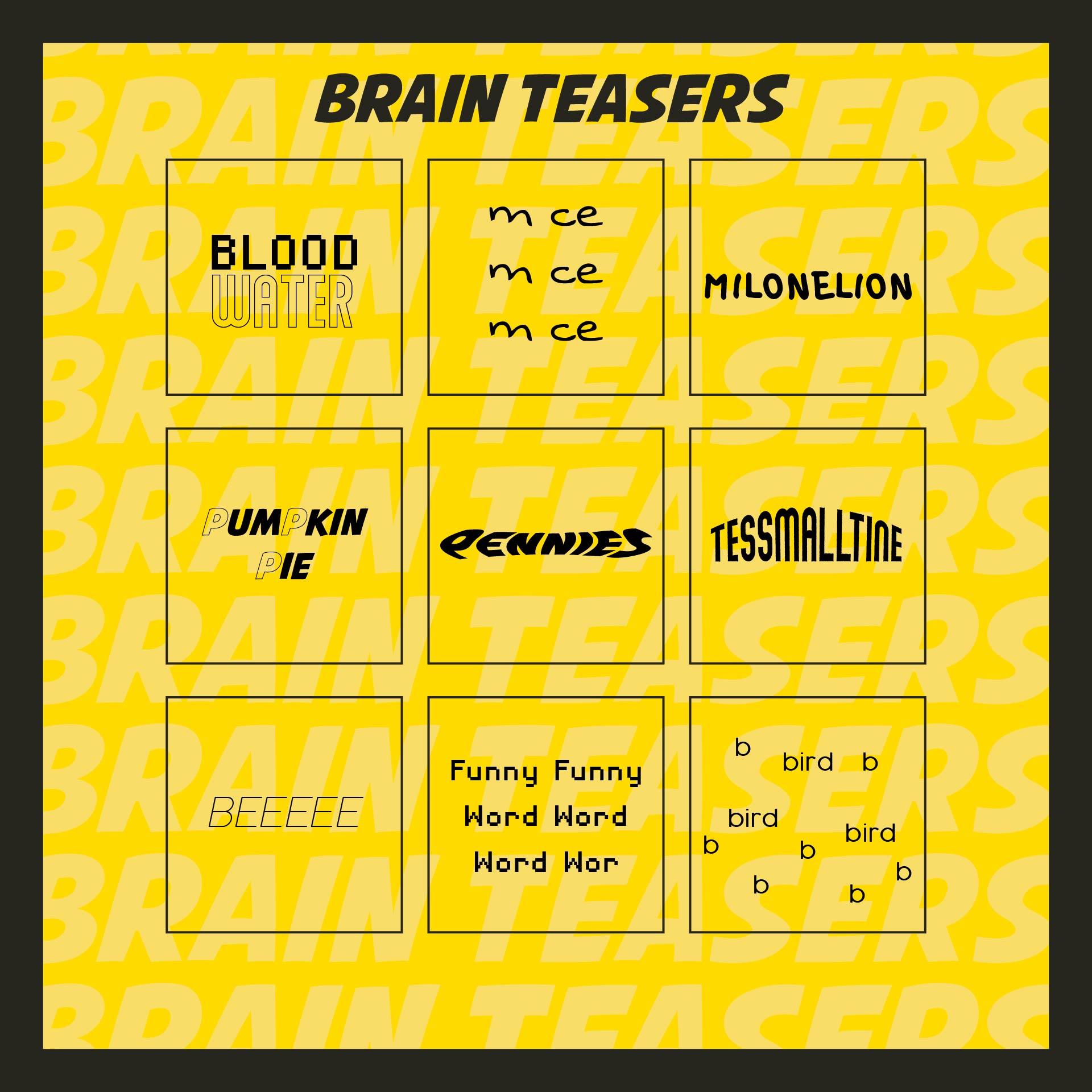 Printable Brain Teaser Worksheets Adults