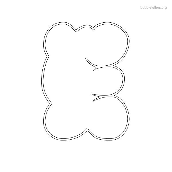 7 Images of Version Of Bubble Letters Printable