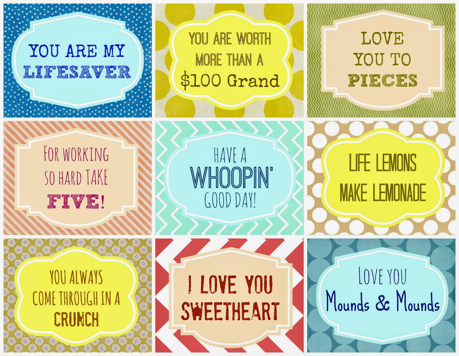 7 Images of Printable Candy Gram Tags