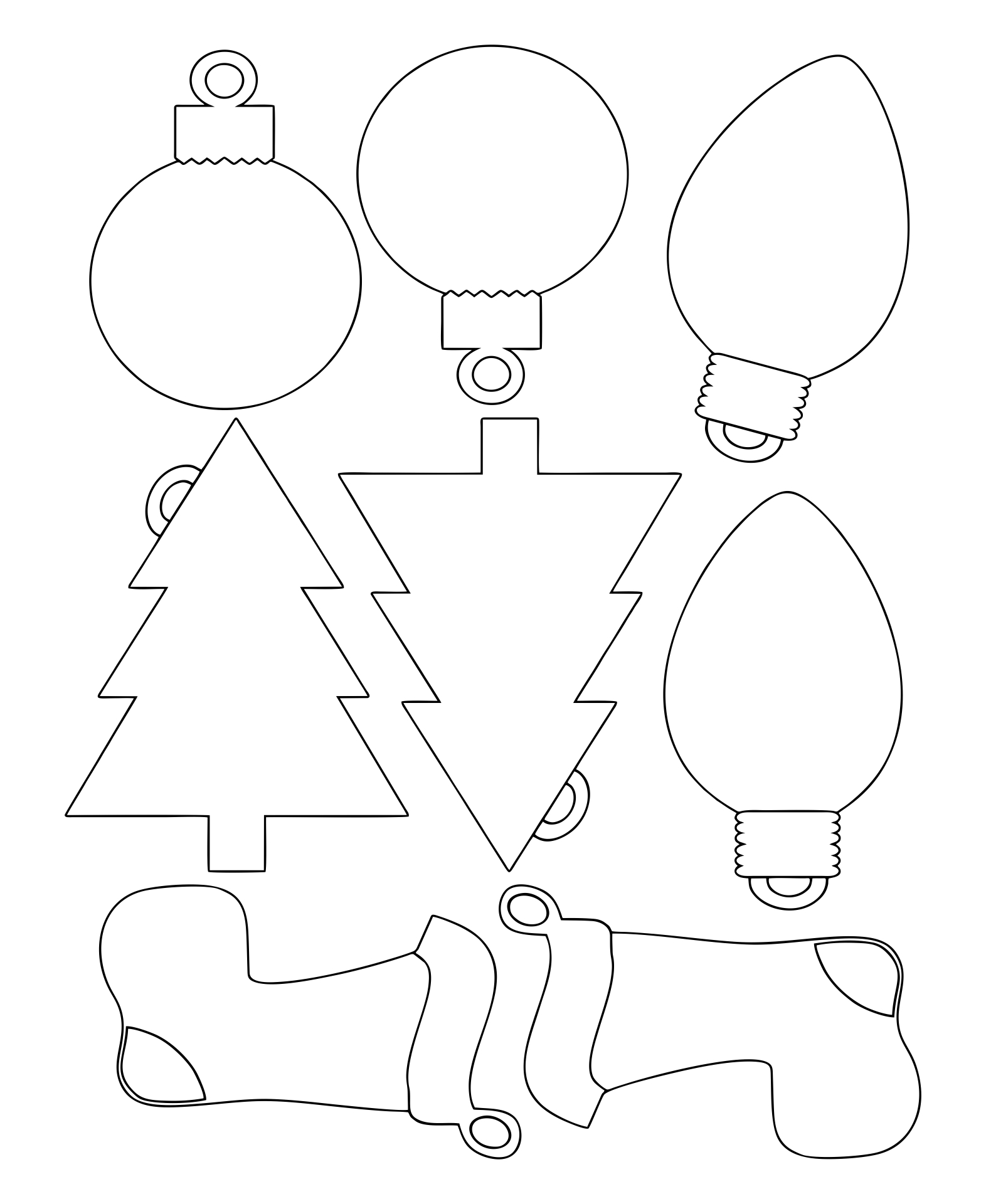 Printable Christmas Ornament Patterns Cut Out