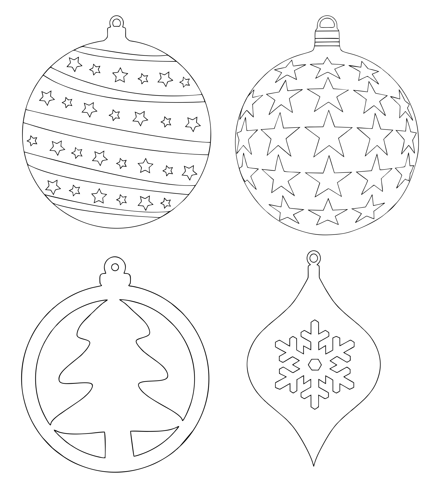 6 Images of Printable Christmas Tree Ornament Patterns