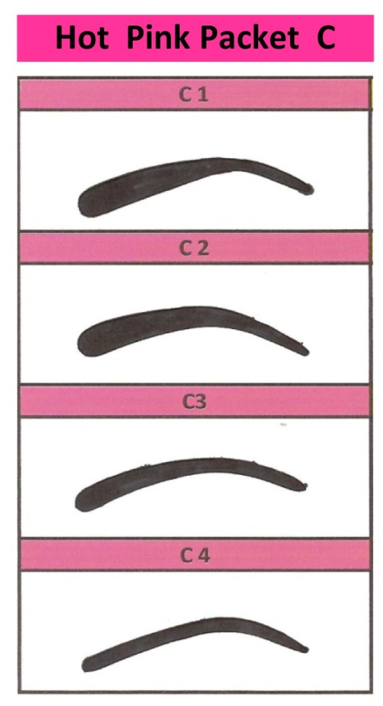 printable eyebrow stencil template - 6 best images of printable eyebrow guides free printable