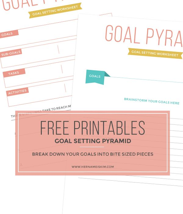 8 Images of Goal Setting Printables