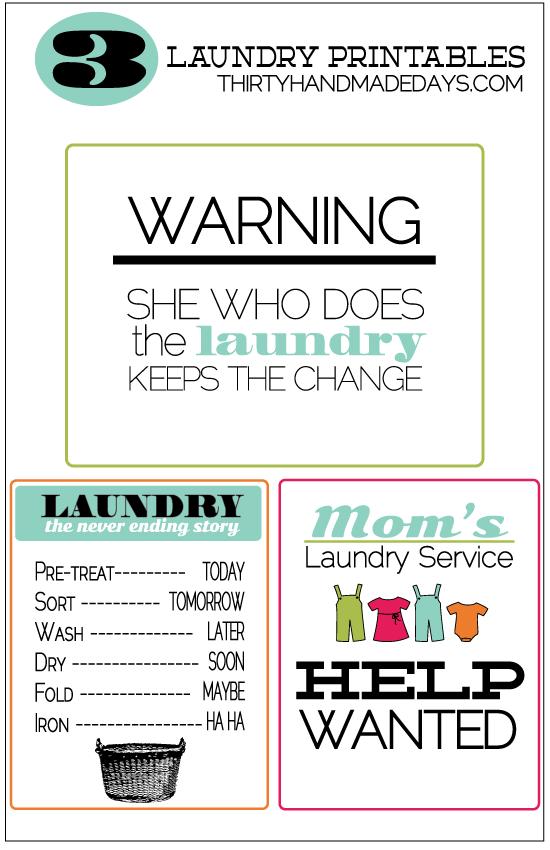 Printable Laundry Room
