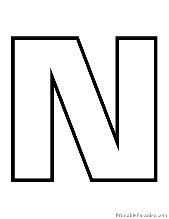 Printable Letter Outlines N