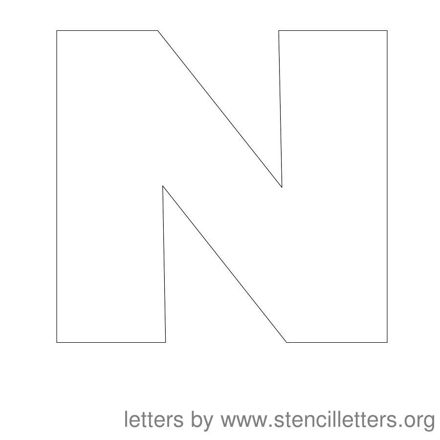 Printable Letter Stencils N