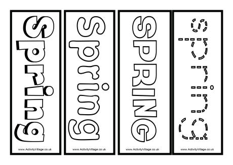 Printable Spring Bookmarks