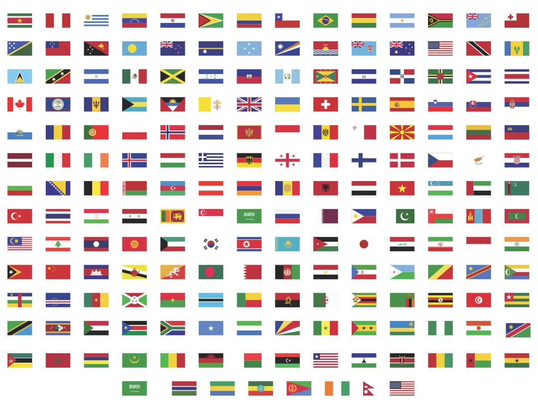 Printable World Country Flags