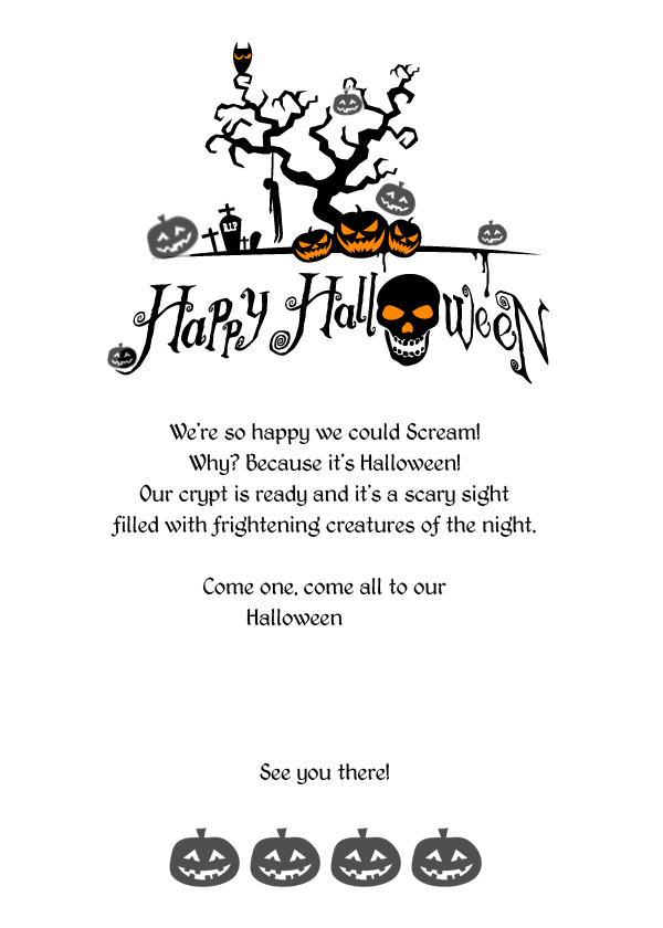 Scary Halloween Invitation Templates Printable Free