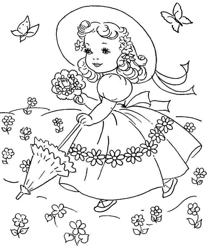 printable coloring pages spring - 4 best images of simple spring coloring pages printable
