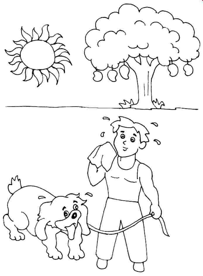 Summer Season Coloring Pages Sketch Coloring Page