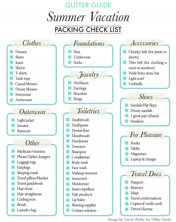 8 Images of Mexico Summer Vacation Packing List Printable