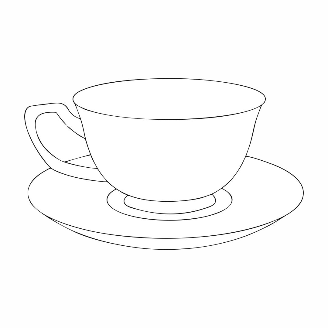 printable tea cup coloring pages - photo#2