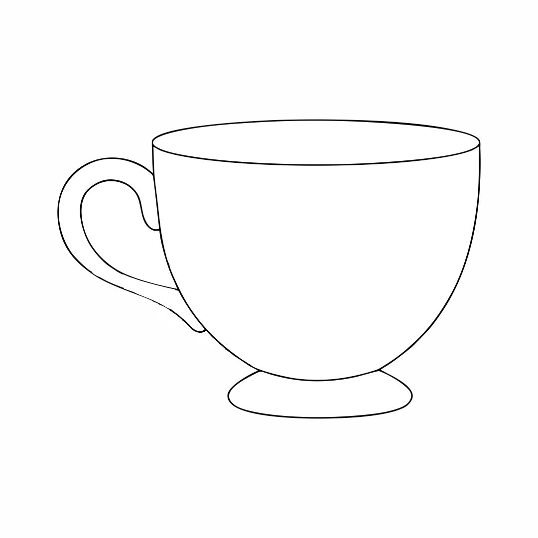 Tea Cup Template Free