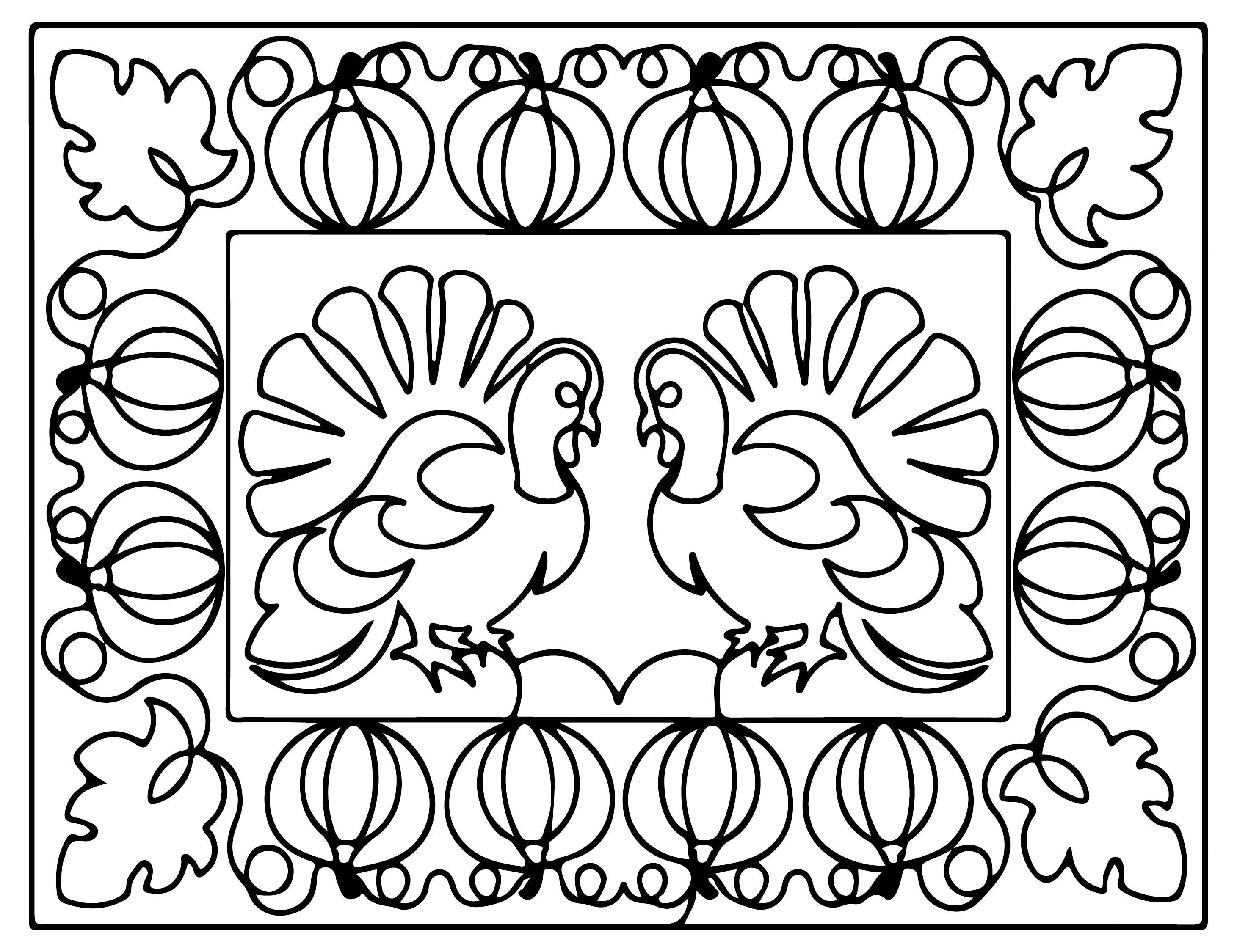 Thanksgiving Printable Placemat