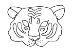 4 Images of Tiger Printable Template