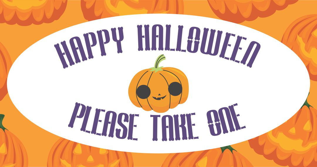 Trick or Treat Please Take One Sign