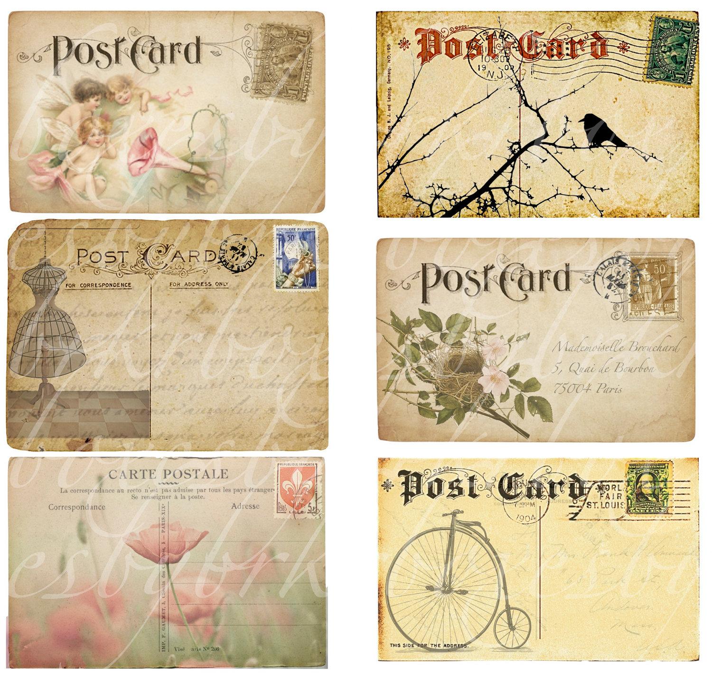 Best Images of Printable Vintage Postcards - Free Printable Vintage ...