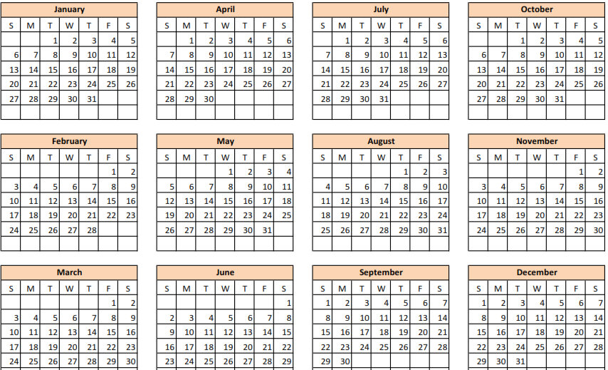 5 Best Images of Blank Calendar 2015 Printable One Page - 2015 ...